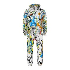 Abstract Fun Design Hooded Jumpsuit (Kids)