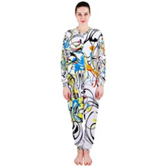 Abstract Fun Design OnePiece Jumpsuit (Ladies)