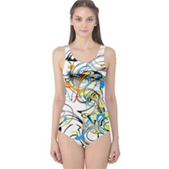 Abstract Fun Design Women s One Piece Swimsuits