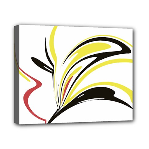 Abstract Flower Design Canvas 10  X 8