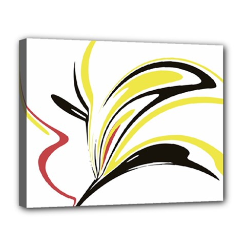 Abstract Flower Design Canvas 14  X 11
