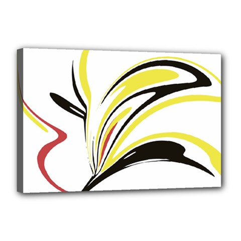 Abstract Flower Design Canvas 18  X 12