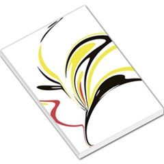 Abstract Flower Design Large Memo Pads