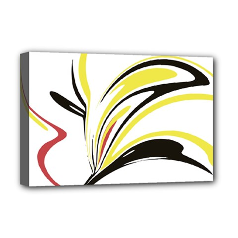 Abstract Flower Design Deluxe Canvas 18  X 12
