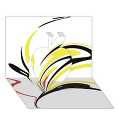 Abstract Flower Design Apple 3D Greeting Card (7x5)
