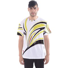 Abstract Flower Design Men s Sport Mesh Tees