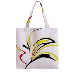 Abstract Flower Design Grocery Tote Bags