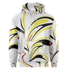 Abstract Flower Design Men s Pullover Hoodies