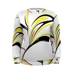 Abstract Flower Design Women s Sweatshirts