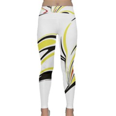 Abstract Flower Design Yoga Leggings