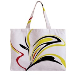 Abstract Flower Design Zipper Tiny Tote Bags
