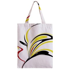 Abstract Flower Design Zipper Classic Tote Bags