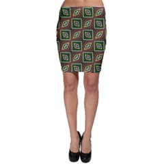 Rhombus flowers pattern Bodycon Skirt