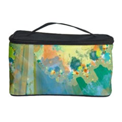 Abstract Flower Design in Turquoise and Yellows Cosmetic Storage Cases