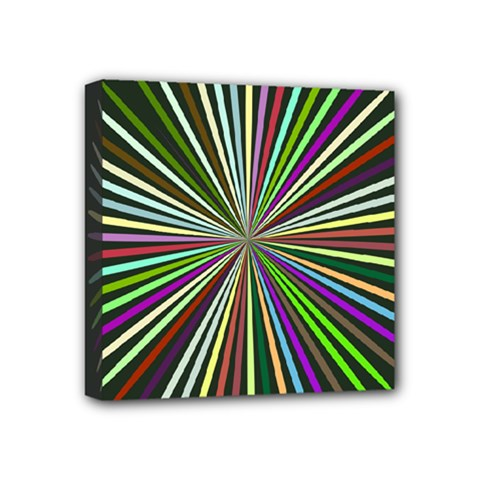 Colorful Rays Mini Canvas 4  X 4  (stretched)