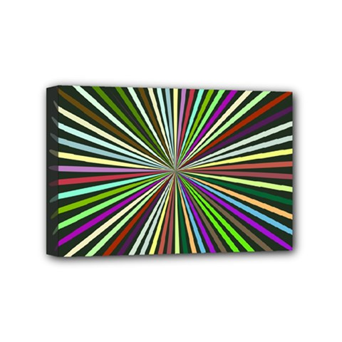 Colorful Rays Mini Canvas 6  X 4  (stretched)