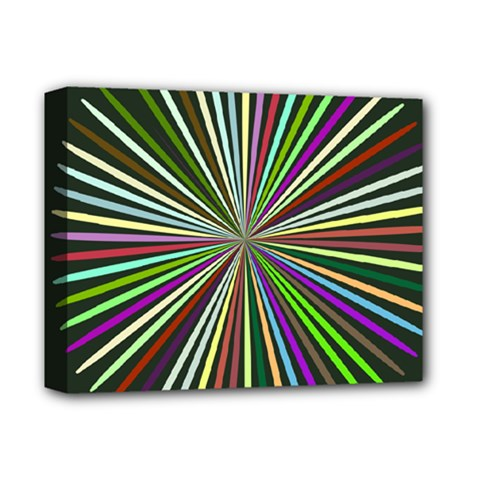 Colorful Rays Deluxe Canvas 14  X 11  (stretched)