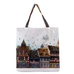Rooftop Grocery Tote Bags