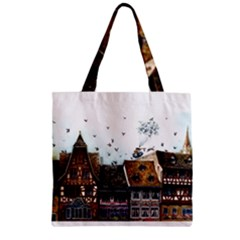 Rooftop Zipper Grocery Tote Bags