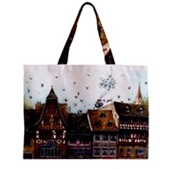 Rooftop Zipper Tiny Tote Bags