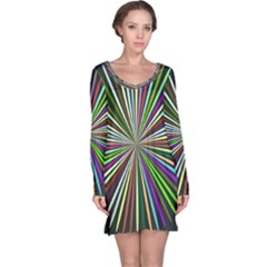 Colorful rays nightdress
