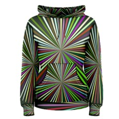 Colorful Rays Women s Pullover Hoodie