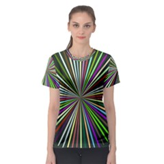 Colorful rays Women s Sport Mesh Tee