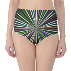Colorful rays High-Waist Bikini Bottoms