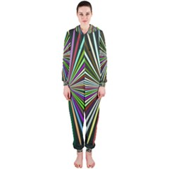 Colorful rays Hooded OnePiece Jumpsuit