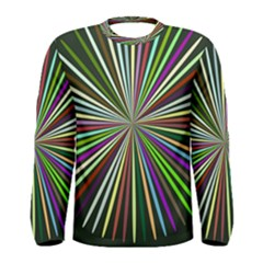 Colorful rays Men Long Sleeve T-shirt
