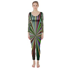 Colorful rays  Long Sleeve Catsuit
