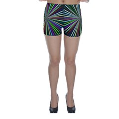 Colorful Rays Skinny Shorts
