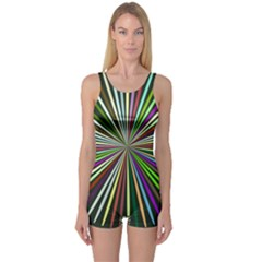 Colorful Rays Women s Boyleg One Piece Swimsuit