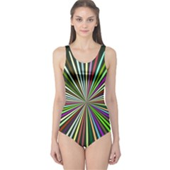 Colorful rays Women s One Piece Swimsuit
