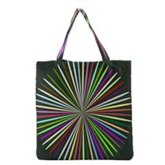 Colorful Rays Grocery Tote Bag