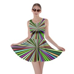 Colorful rays Skater Dress