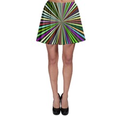 Colorful rays Skater Skirt