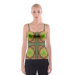 Tribal shapes pattern Spaghetti Strap Top