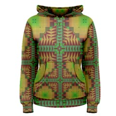 Tribal shapes pattern Women s Pullover Hoodie