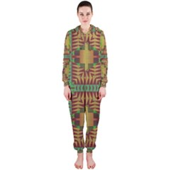 Tribal shapes pattern Hooded OnePiece Jumpsuit