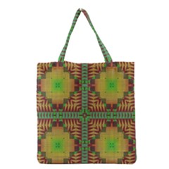 Tribal shapes pattern Grocery Tote Bag