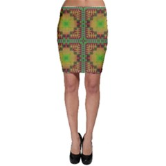 Tribal shapes pattern Bodycon Skirt