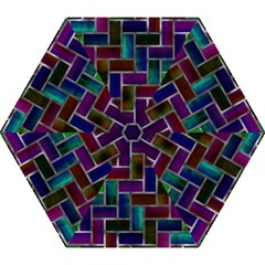 Colorful rectangles pattern Umbrella