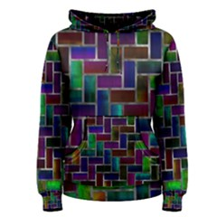 Colorful rectangles pattern Women s Pullover Hoodie
