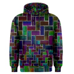 Colorful Rectangles Pattern Men s Pullover Hoodie