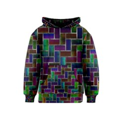 Colorful rectangles pattern Kid s Pullover Hoodie