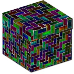 Colorful rectangles pattern Storage Stool