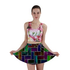 Colorful rectangles pattern Mini Skirt
