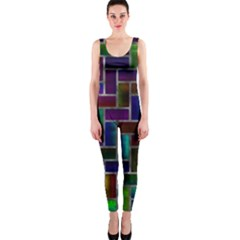 Colorful Rectangles Pattern Onepiece Catsuit
