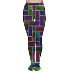 Colorful rectangles pattern Tights